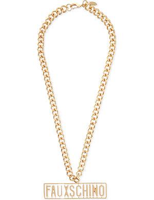 MOSCHINO Fauxchino necklace