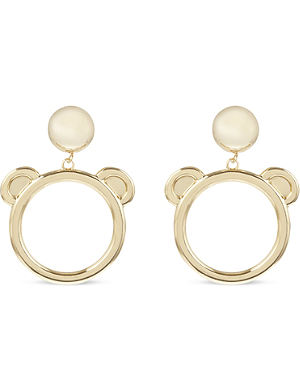 MOSCHINO Bear clip-on earrings