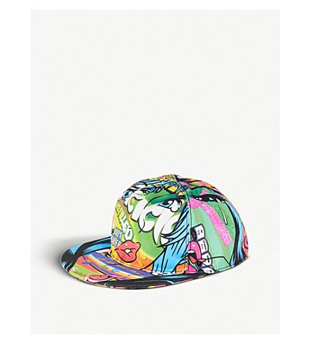 MOSCHINO Crazy Fruits printed cotton snapback cap (Multi