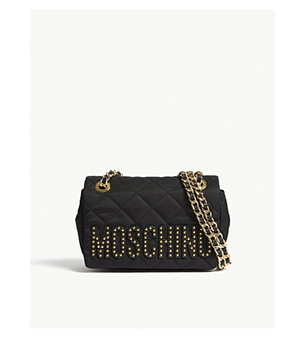 MOSCHINO Quilted cross-body bag (Black