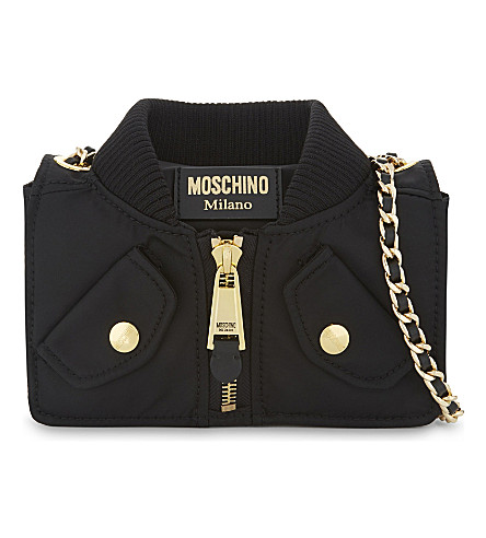 MOSCHINO Nylon jacket cross-body bag (Black