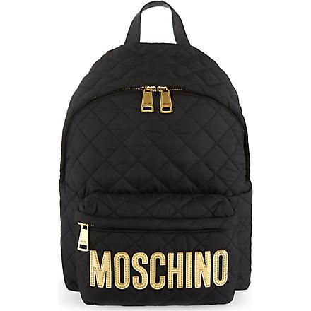 MOSCHINO Nylon backpack (Black/gold