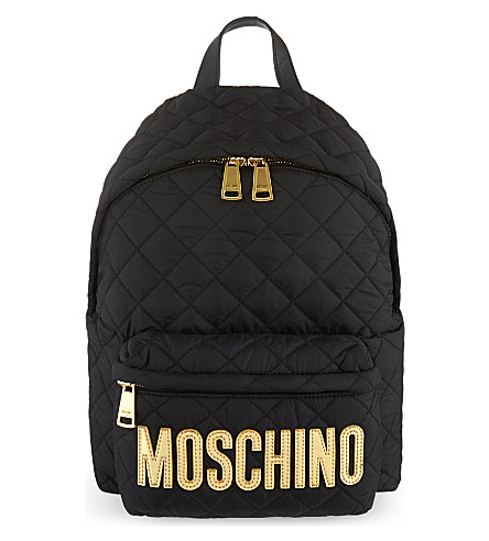 MOSCHINO Nylon backpack (Black/gold