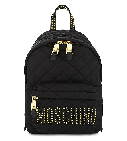 MOSCHINO Quilted backpack (Black