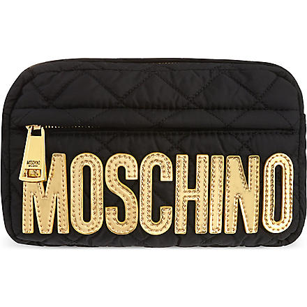 MOSCHINO Nylon bumbag (Black/gold