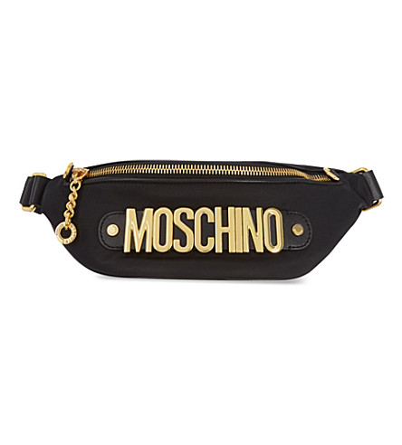 MOSCHINO Logo bum bag (Black