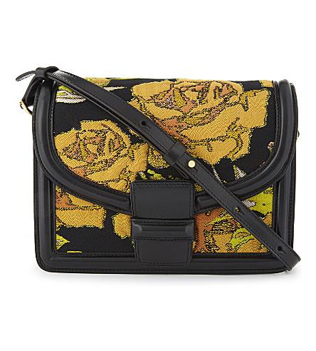 DRIES VAN NOTEN Floral jacquard cross-body bag (Yellow+multi