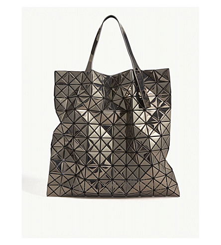 BAO BAO ISSEY MIYAKE Prism metallic tote bag (Platinum