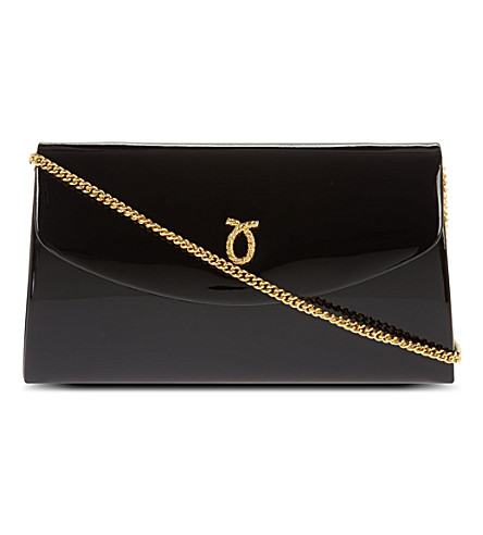 LAUNER High society patent clutch (Black