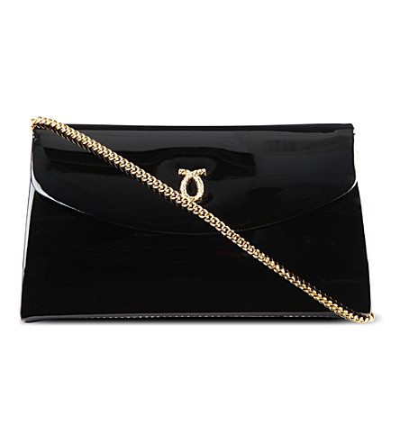 LAUNER High Society patent leather clutch (Black