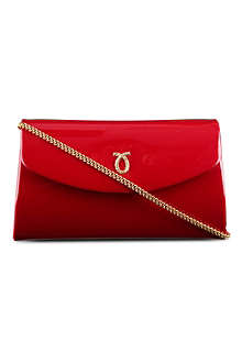 LAUNER High Society patent leather clutch