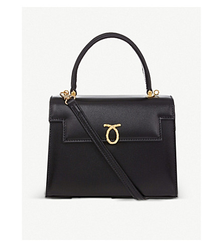 LAUNER Judi leather tote (Black