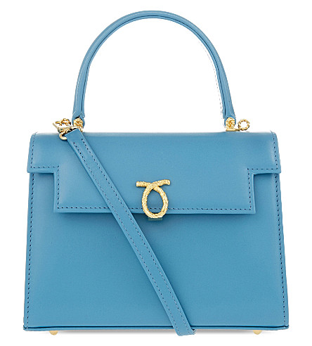 LAUNER Judi leather tote (All+baby+blue