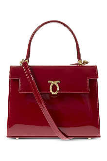 LAUNER Mini Judi patent handbag