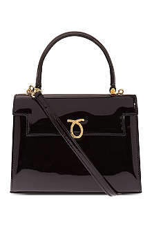 LAUNER Mini Judy patent leather handbag