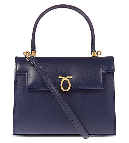 LAUNER Mini Judy leather handbag (Indigo