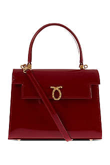 LAUNER Mini judy patent handbag