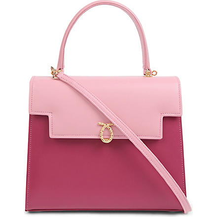 LAUNER Traviata leather handbag (Baby pink/barbie pink