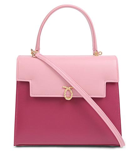 LAUNER Traviata leather handbag (Baby pink/barbie pink
