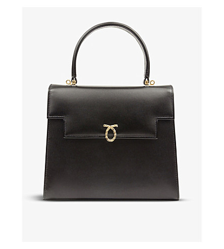 LAUNER Traviata leather tote (Black