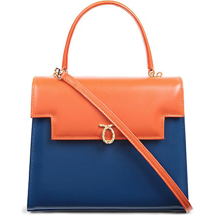 LAUNER Traviata leather handbag (Jaffa/royal blue