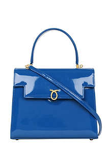 LAUNER Traviata patent leather handbag