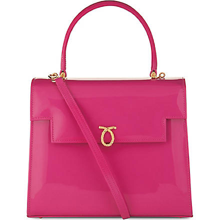 LAUNER Traviata leather handbag (Magenta