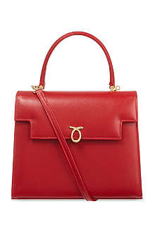 LAUNER Traviata patent leather handbag