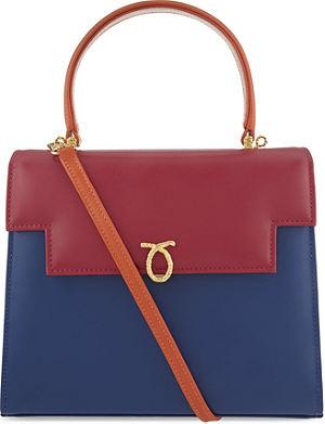 LAUNER Traviata colourblock leather shoulder bag
