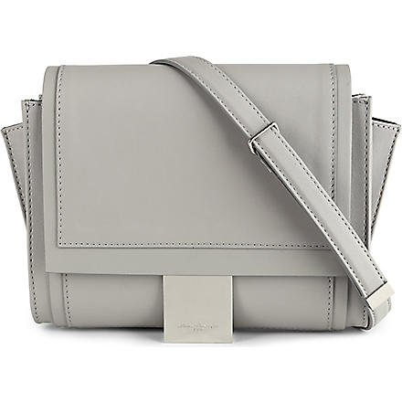 MAISON MARTIN MARGIELA Small leather shoulder bag (Grey
