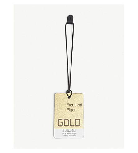 MAISON MARGIELA Frequent flyer leather tag (Gold