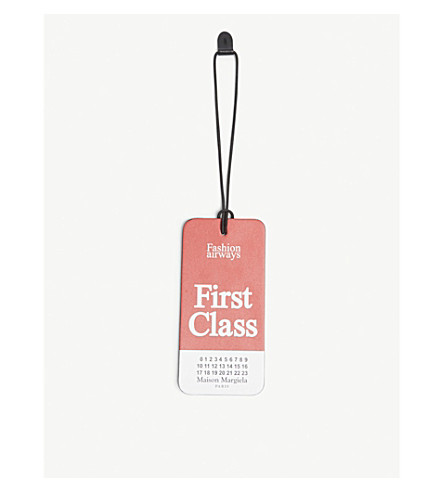 MAISON MARGIELA First class leather tag (Red