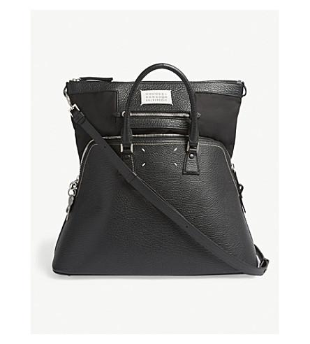 MAISON MARGIELA Large classic grained leather tote (Black