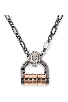 MAWI Padlock crystal necklace