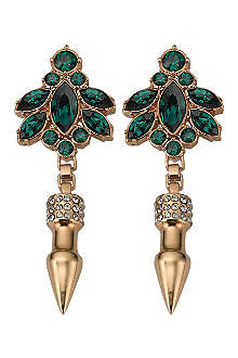 MAWI Crystal spike earrings