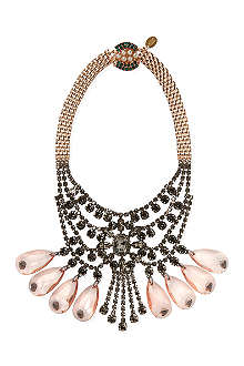 MAWI Tiered crystal necklace