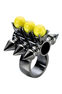 MAWI Spike tube and neon pearl ring