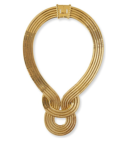 LARA BOHINC Lunar Eclipse gold-plated necklace (Yellow+gold