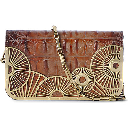 LARA BOHINC Tatjana chain clutch (Brown