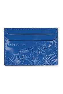 LARA BOHINC Ray patent leather credit card holder