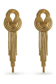 LARA BOHINC Saturn 22ct gold-plated drop earrings