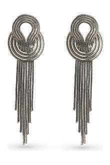 LARA BOHINC Saturn platinum-plated earrings