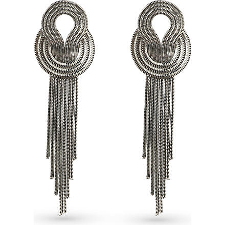 LARA BOHINC Saturn platinum-plated earrings (Platinum