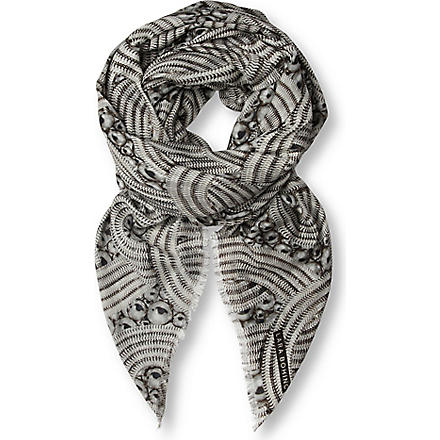 LARA BOHINC Lunar Eclipse modal and cashmere-blend scarf (Black