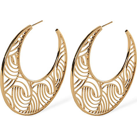 LARA BOHINC Tatjana gold-plated hoop earrings (Gold