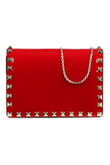 VALENTINO Studded nappa leather cross-body pouch