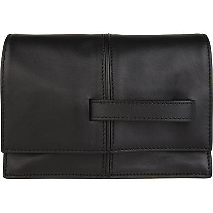 VALENTINO My Own Code leather clutch (Black