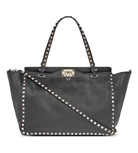 VALENTINO Rockstud medium tote (Black