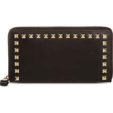 VALENTINO Rockstud continental leather wallet (Black