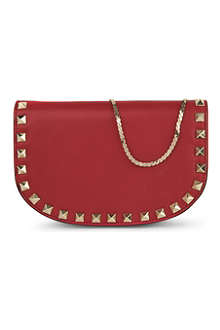 VALENTINO Rockstud studded-leather shoulder bag